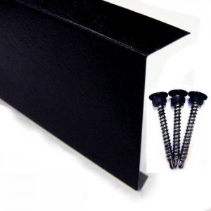 Metal Edge Trim (Black Plastisol) 3 metres